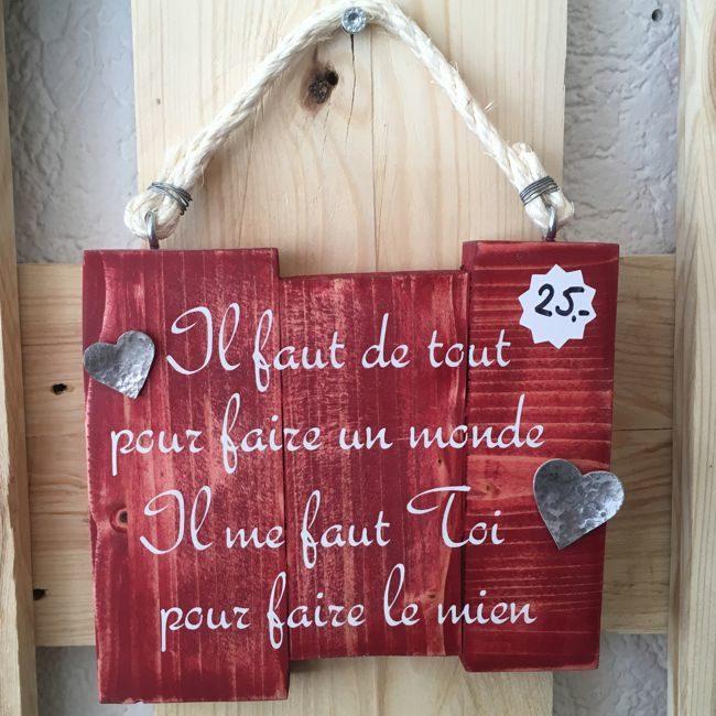 décoration en bois romantique