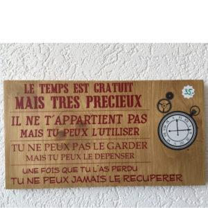 tableau en bois proverbe