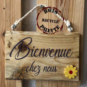 pancarte bois bienvenue