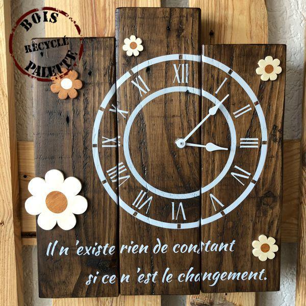 horloge murale rustique
