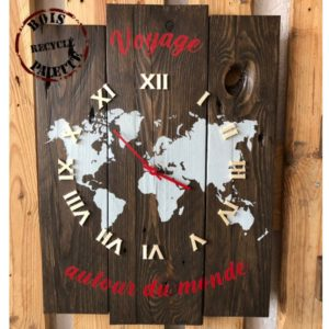 horloge en bois de palette