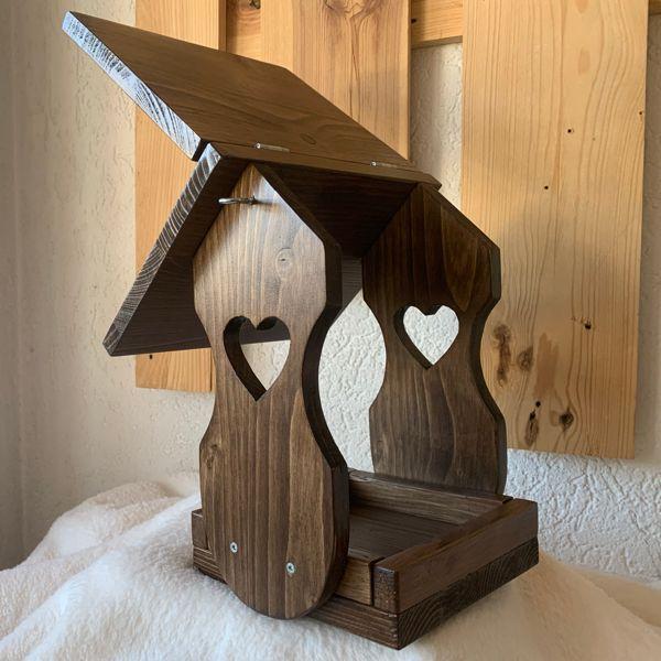 mangeoire en bois pour les oiseaux
