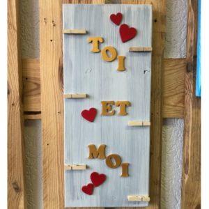 cadeau en bois pour amoureux