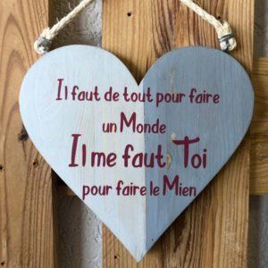 coeur en bois pour les amoureux
