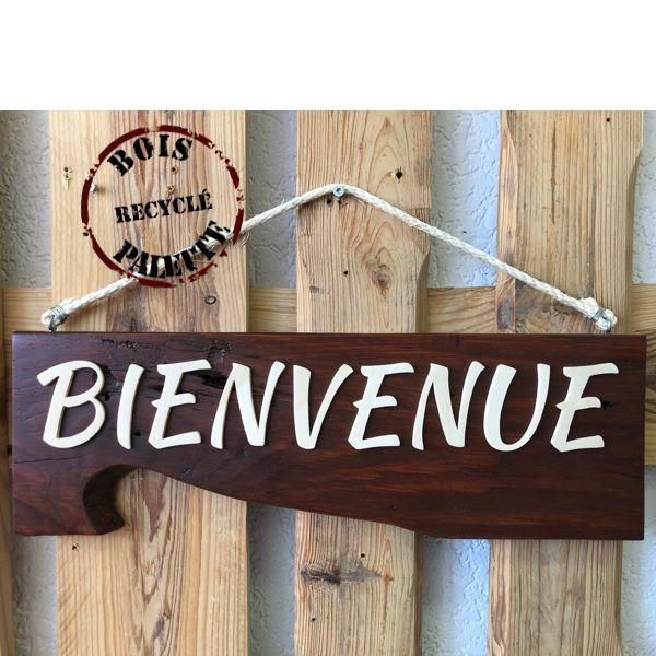 panneau de bienvenue en bois palette