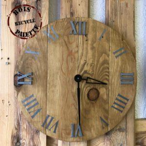horloge en palette